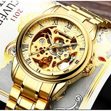 FNGEEN <b>Men Luxury Skeleton Automatic</b> Winding Mechanical ...