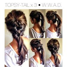Quick Ponytail Hairstyles Quick Hair Style Topsy Tail O Pony Tail O Updo O Fall Hairstyle