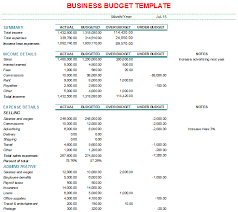 Budget Plan Sample Business Business Budget Template 1 Excel Budget Template