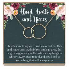Dear Ava Aunt Niece Necklace Aunt Niece Gift Aunt Niece Jewelry Aunt Niece Quotes Aunt Necklace 2 Interlocking Circles