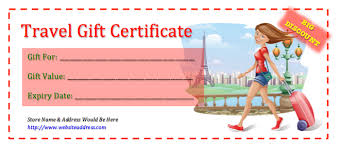 travel voucher template free travel gift certificates gift certificate templates