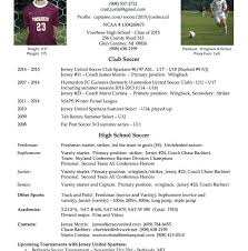 college soccer resume picturesque soccer resume for college player resume  job college soccer resume objective