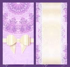 Wedding Invitations Templates Purple Purple Vintage Lacy Wedding Invitation Template Royalty Free