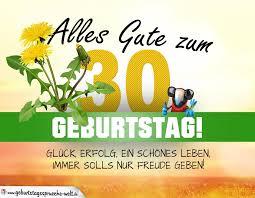 30 Geburtstag Geburtstagskarte Alles Gute Mit Schönem Spruch