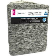 mainstays jersey knit bed sheet set 3