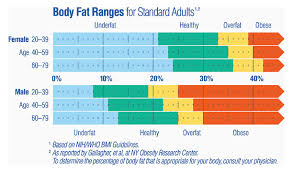 Body Fat Percentage Chart For Athletes