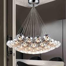 modern glass pendant lamps led pendant chandelier light for living dining study room home deco g4 half chrome chandelier lamp fixture double pendant