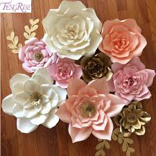 2018 whole fengrise 20cm diy paper flowers backdrop blue artificial flower backdrop wedding birthday party decor supplies from aozhouqie