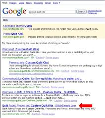 SEO Copywriting and Organic Search Engine Optimization Manual & Stich Simple is number 5 on first page of Google Adamdwight.com