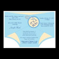 Diaper Shower Invitation Diaper Shower Invitation Blue Dot And Bow