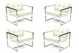 modern metal outdoor furniture. Modern Steel Furniture Concept Stainless With Four Tufted Lounge Chairs Red . Metal Outdoor