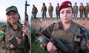if we we want to look pretty defiant kurdish solr s refuse to go without makeup while gunning down isis fighters in iraq with a helping