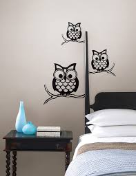 give a hoot wall owl wall art by wallpops contemporary bedroom