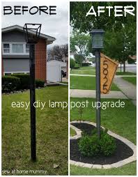 lamp post idea a really easy way to add some curb appeal how to