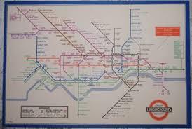 London Underground Becks Tri Fold Passenger Map For 1935