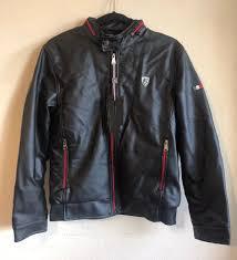 details about vg world collection men s faux leather jacket black sz s