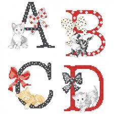 Alphabet Chart Australia The Big Cats Alphabet Chart Les Brodeuses Parisiennes