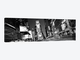new york panoramic skyline cityscape black white times square at night 1