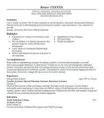 Special Education Teacher Resume Samples Elementary Special