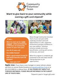 Community Volunteer Team (18-25 Yrs. Old) – Mo'magic
