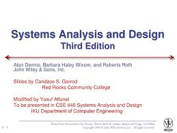 Systems Analysis Design 10th Edition Systems Analysis And Design Third Edition Ppt Download