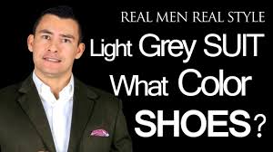 What Color Dress Shoes Does A Man Wear With A Light Grey Mens Suit