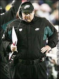 andy reid eagles. waited until the fifth offensive possession to start spreading field with four-receiver sets. eagles held a 7-0 lead, but weis was going play andy reid