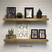 floating picture ledge shelves set of