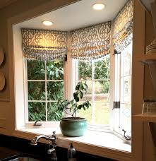 Kitchen Shades Custom Roman Shades In Lacefield Imperial Bisque Fabric By The