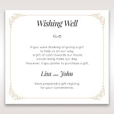 wedding invitation wishing well wording inspiration modern gift