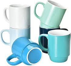 Shop for oversized coffee mugs online at target. Amazon Com Coffee Mugs Set Of 6 Stackable Coffee Mugs 16 Oz Large Coffee Mugs Set Of 6 With Handle Ceramic Mugs Restaurant Coffee Mug Set Of 6 Coffee Mugs For Coffee Tea