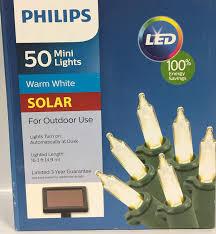 Philips 100 Green Mini Lights Philips 50ct Warm White Solar Led Mini String Lights Green Wire