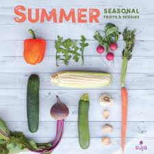 season al summer seasonal fruits veggies suja juice