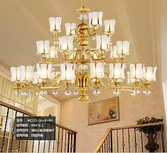 arms hotel lobby copper lamp large font b chandelier b font luminaria res antique font