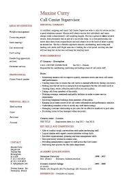 Call Center Supervisor Resume