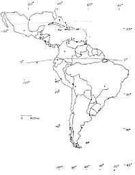 Latin America Blank Map F