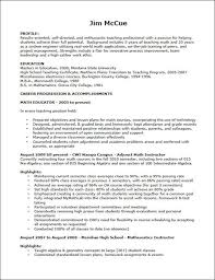 example of teacher resume berathencom career objective examples for teachers