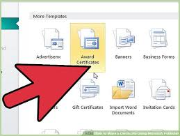 Microsoft Award Templates How To Make A Certificate Using Microsoft Publisher 4 Steps