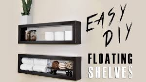 elongated shadow box style storage idea