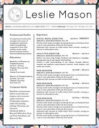 A fun, floral design for the ultra girly girl in us all. A clean, simple  layout with a unique initialed stamp at the top will definitely help your  resume ...