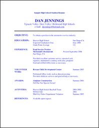Sample Resume For Highschool Graduate Resume Templates Resume Templates for Highschool Graduates Sample 52