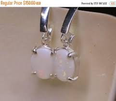 australian opal earrings oval opal earrings genuine opal silver leverback dangle earrings