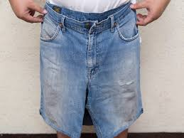 Make Pants How To Make Shorts Out Of Pants 10 Steps With Pictures