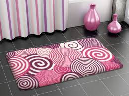 contemporary bathroom with purple pink bathroom rugs and black inside creative luxury bath rugs and