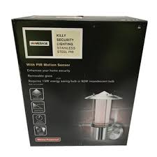 stainless steel security light with pir sensor time dusk controls for