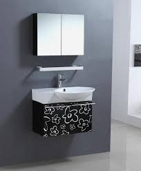 30 inch black bathroom vanity. home \u003e 30 inch wall mount single sink bathroom vanity in black and white · loading zoom