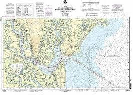 Noaa Chart 11416 Noaa Chart St Simons Sound Brunswick Harbor And Turtle