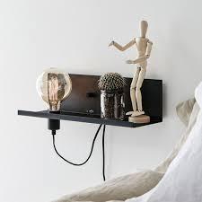 multi shelf and wall light with plug