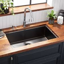 32 Atlas Stainless Steel Undermount Kitchen Sink Gunmetal Black