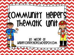 Kinder Confections!: Community Helper Unit!!!!!